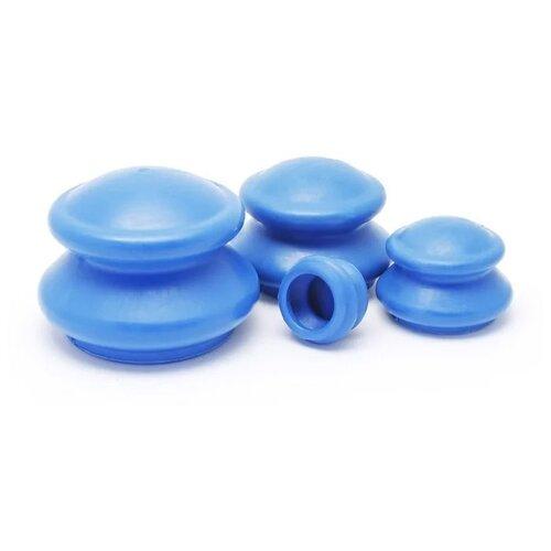 Просто-полезно вакуумные банки Банки массажные резиновые для вакуумного массажа Просто-Полезно 4 шт. синий