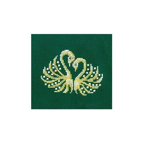 Набор для вышивания сделай своими руками арт.З-26 Золотые украшения.Лебеди 12х12 см