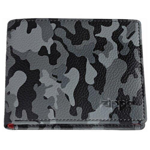Фото - Портмоне ZIPPO, серо-чёрный камуфляж, натуральная кожа, 10,8×2,5×8,6 см портмоне zippo серо чёрный камуфляж натуральная кожа 11 2x2x8 2 см