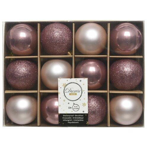 Фото - Набор пластиковых шаров New Year MIX розовый бархат/нежно-розовый, 60 мм, упаковка 12 шт., Kaemingk 023575 набор пластиковых шаров new year mix красный бордовый 60 мм упаковка 12 шт kaemingk 023573