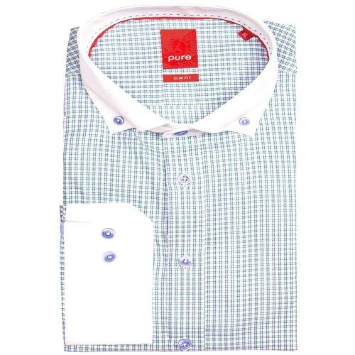 Рубашка pure размер XXL зеленый/белый