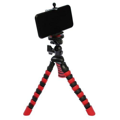 Штатив LuazON настольный для телефона гибкие ножки высота 28 см чёрно красный 4364243