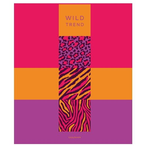 BG Тетрадь с разделителями Будь в тренде ТТ5к240_лм_вл 8867, клетка, 240 л., розовый/оранжевый/фиолетовый