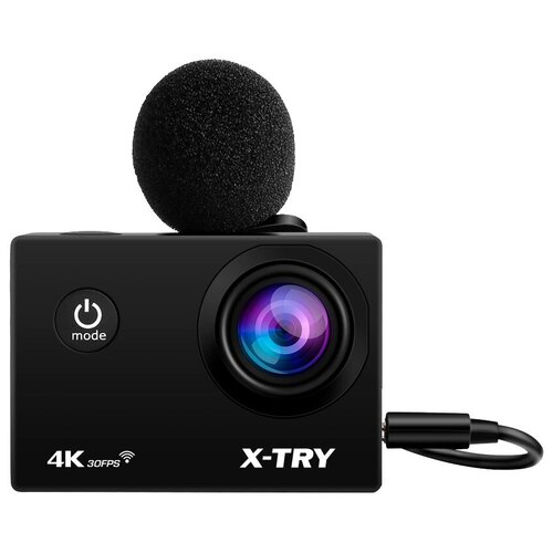 Фото - Экшн-камера X-TRY XTC198 EMR UltraHD черный экшн камера x try xtg203 hd indigo polarized черный