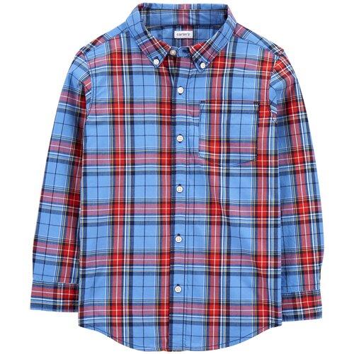Рубашка Carter's размер 7, blue/red