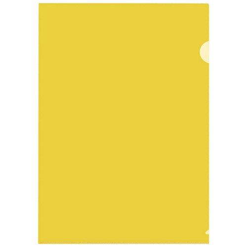 Купить Папка уголок ПУ-001-ПП 120мкр жесткий пластик А4 желтая прозрачная 20 шт/уп, 2 уп, Attache, Файлы и папки