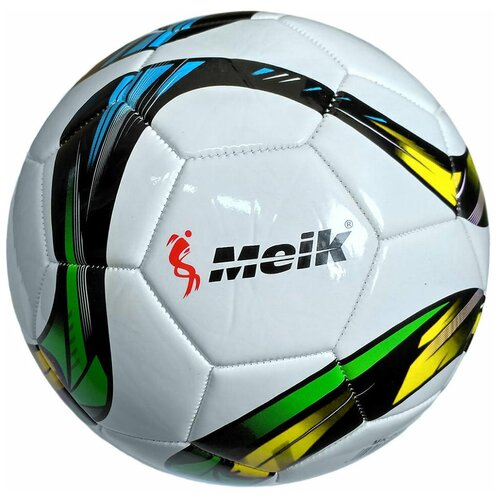 R18031-2 Мяч футбольный Meik-069 4-слоя TPU+PVC 3.0, 400 гр, машинная сшивка