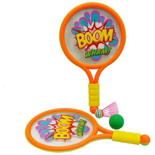 Фото - Набор для игры в теннис и бадминтон 1 TOY Boom! Wham! (Т59929) набор abtoys бадминтон и теннис s 00176