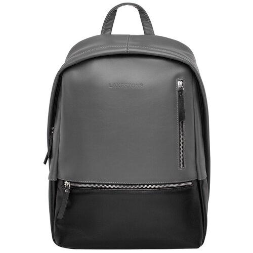 Кожаный рюкзак Adams Black Grey недорого
