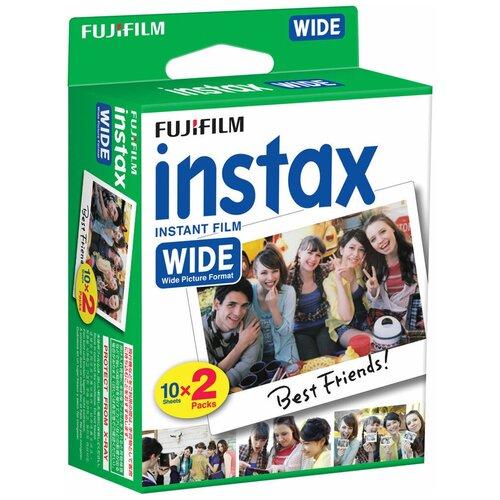 Картридж для моментальной фотографии Fujifilm Instax Wide 20 шт. белый