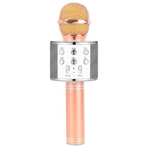 Беспроводной караоке-микрофон WS-858 (серебряная ваниль)