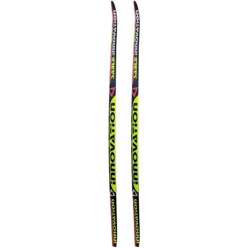 Фото - Беговые лыжи STC Sable Innovation (WAX) черный/желтый/красный 150 см беговые лыжи stc step kid combi черный белый желтый 110 см