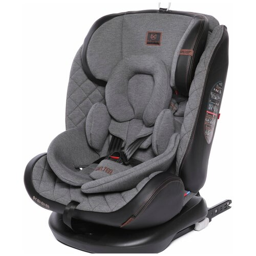 Автокресло группа 0/1/2/3 (до 36 кг) Babycare Shelter Isofix, эко-серый бамбук автокресло бустер прайм isofix группа 1 2 3 цвет серый