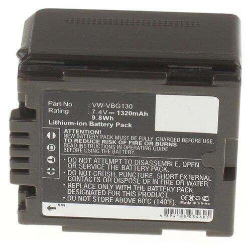 Аккумулятор iBatt iB-U1-F320 1320mAh для Panasonic SDR-H80, HDC-MDH1, HDC-HS700, SDR-H50, HDC-TM700, HDC-SD600, VDR-D50, HDC-SD100, VDR-D310, HDC-SD9, SDR-H90, HDC-TM10, VDR-D51, HDC-HS100, HDC-SD1, HDC-SD5,