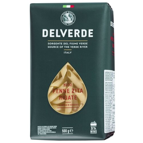 Delverde Industrie Alimentari Spa Макароны № 32 Penne Zita Rigate, 500 г