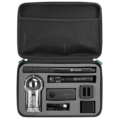 Фото - Telesin Кейс для камеры Insta360 One X и аксессуаров telesin защелка с двумя креплениями для камер и аксессуаров черный