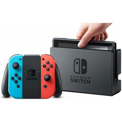 Портативная игровая приставка Nintendo Switch неоновый синий / неоновый красный
