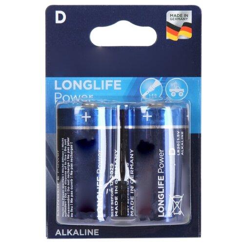 Фото - Батарейка D - Varta Longlife Power 4920 LR20 (2 штуки) VR LR20/2BL LON PW батарейка d щелочная perfeo lr20 2bl super alkaline 2 шт