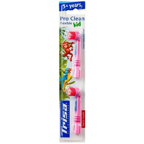 Сменные насадки для электрических зубных щеток Trisa для моделей Clean, 2 шт.(674494-Pink)