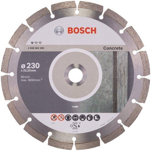 Фото - Диск алмазный отрезной BOSCH Standard for Concrete 2608602200, 230 мм 1 шт. диск алмазный отрезной bosch standard for ceramic 2608602201 115 мм 1 шт