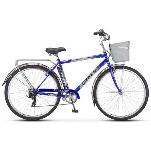 велосипед stels navigator 300 gent 28 z010 20 синий Городской велосипед STELS Navigator 350 Gent 28 Z010 (2018) 20 синий + корзина (требует финальной сборки)