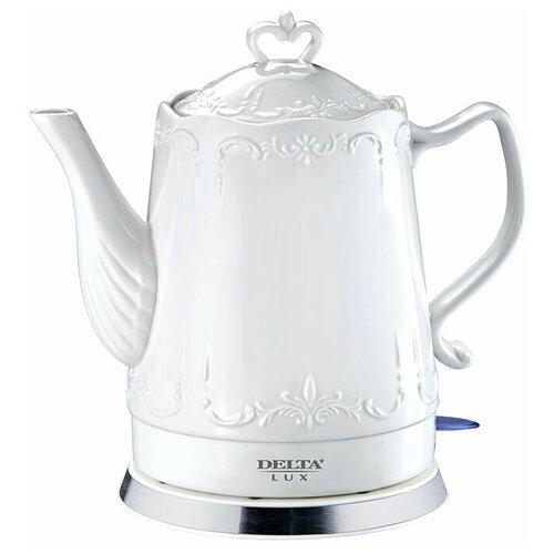 Чайник DELTA LUX DL-1236, белый чайник delta lux dl 1204b 1 7l black