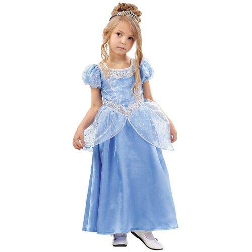 Купить Костюм пуговка Золушка (2021 к-18), голубой, размер 128, Карнавальные костюмы