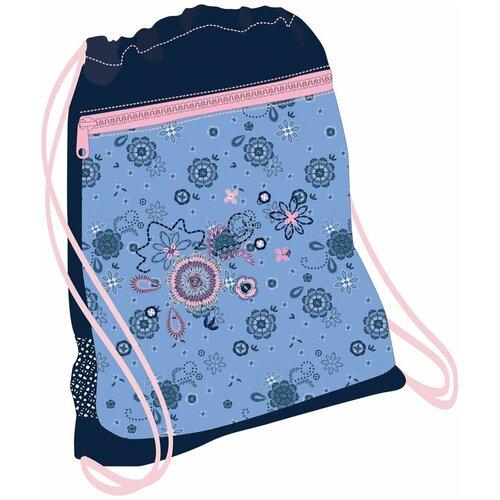 Belmil Мешок-рюкзак для обуви Folk Love 336-91/610, синий/голубой мешок для обуви belmil robot