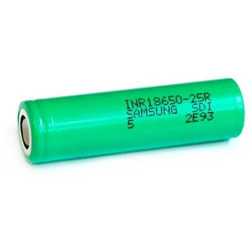 Фото - Аккумулятор Li-Ion 2500 мА·ч SAMSUNG INR18650-25R 1 шт аккумулятор li ion 2600 ма·ч ansmann 18650 с защитой 1 шт
