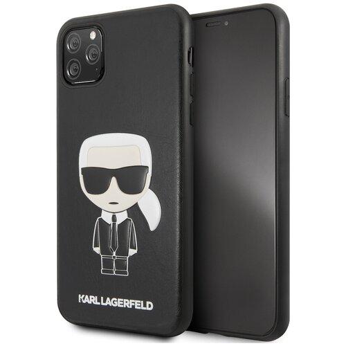 Чехол Lagerfeld для iPhone 11 Pro Max PU Leather Iconik Karl Hard Black