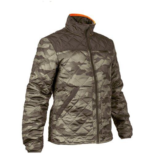 Куртка стеганая камуфляжная мужская для охоты 100 SOLOGNAC, размер: XL, цвет: Хаки/Темно-Бронзовый/Темно-Бронзовый SOLOGNAC Х Декатлон