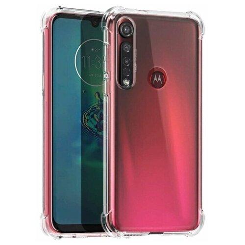 Чехол (клип-кейс) Motorola для Motorola G8 Plus Brosco прозрачный (MOTO-G8P-HARD-TPU)