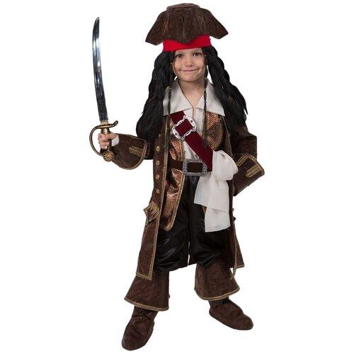 Костюм Батик Капитан Джек Воробей (952), коричневый, размер 128