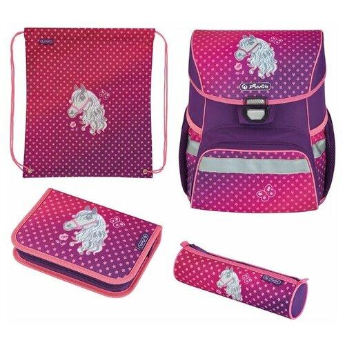 Купить Herlitz Ранец Loop Horse с наполнением, розовый/фиолетовый, Рюкзаки, ранцы