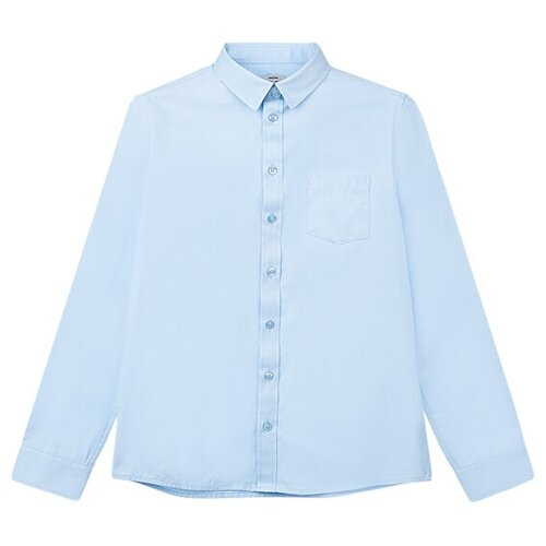 Рубашка playToday размер 134, голубой