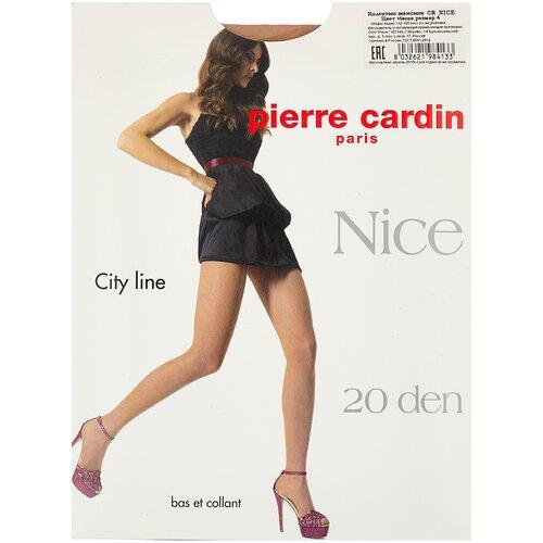 Колготки Pierre Cardin Nice, City Line, 20 den, размер IV-L, visone (бежевый) колготки pierre cardin laval 40 den размер ii s visone бежевый