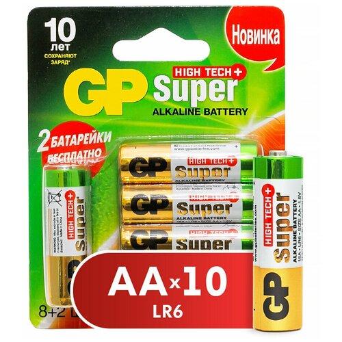 Фото - Комплект алкалиновых батареек GP 8+2, типоразмера АА (LR06),10 штук воблер san san side flirts 107sp 107mm 11 5g sp107 459