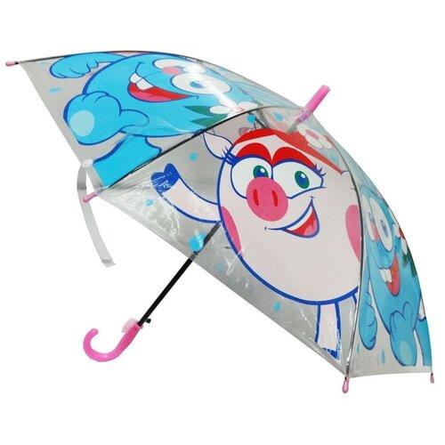Зонт Играем вместе прозрачный/розовый