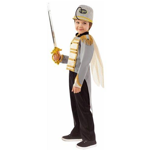 Купить Костюм пуговка Комарик (2084 к-20), серый/черный, размер 110, Карнавальные костюмы