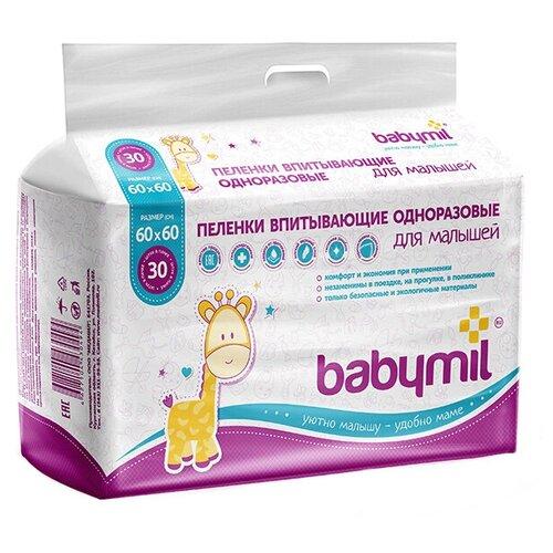 одноразовые пеленки Одноразовые пеленки Babymil Оптима 60х60 30 шт.