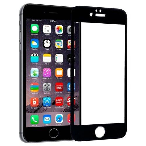Полноэкранное защитное стекло для телефона Apple iPhone 6 Plus и iPhone 6S Plus / Ударопрочное стекло на смартфон Эпл Айфон 6 Плюс и Айфон 6С Плюс / Закаленное стекло с олеофобным покрытием на весь экран / Full Glue Premium Glass от 3D до 21D (Черный)