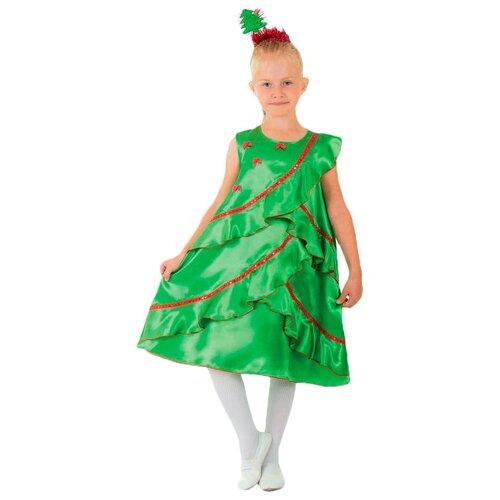 Купить Костюм Страна Карнавалия Ёлочка атласная (1631645-1631647), зеленый, размер 128, Карнавальные костюмы