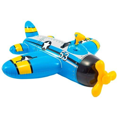 Надувная игрушка-наездник Intex Самолеты 57537 синий