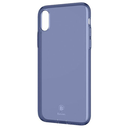 Фото - Чехол-накладка Baseus Simple Series Case (With Pluggy) для Apple iPhone X transparent blue чехол накладка baseus thin case для apple iphone x black