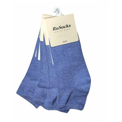 Набор коротких женских носков цвета джинс, 5 шт, р-р 36-39