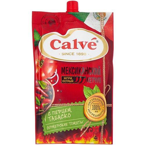 Кетчуп Calve Мексиканский жгуче острый с перцем табаско 350 г