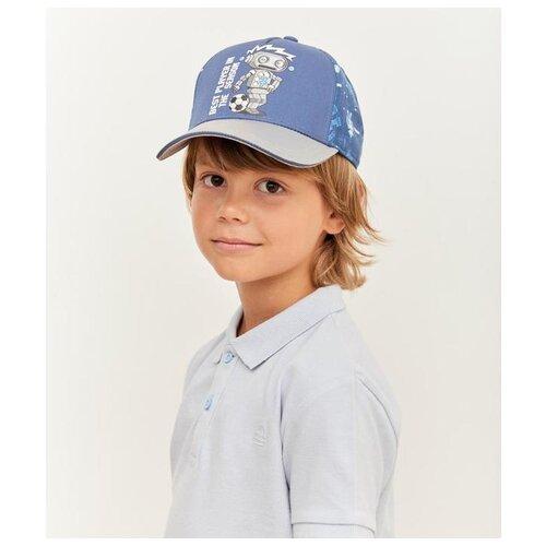 Купить Бейсболка для мальчика Kotik МС-1001, размер 52-54, синий, Головные уборы