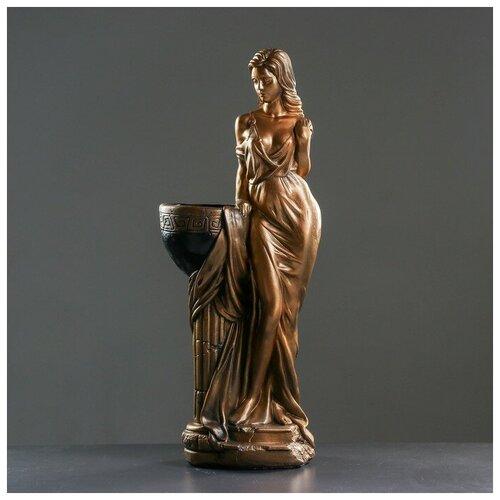 Хорошие сувениры Фигура с кашпо Девушка Дана бронза 81см фигура девушка сидя кашпо на плече бронза 58см 302969
