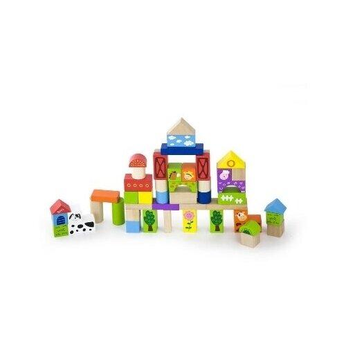 Купить Конструктор VIGA Ферма 50 деталей в ведре, VIGATOYS, Детские кубики