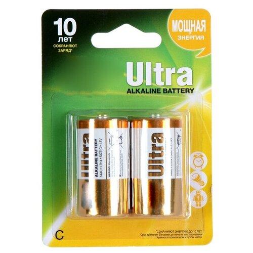 Фото - Батарейка C - GP Ultra Alkaline GP14AU-2UE2 LR14 BL2 (2 штуки) батарейка c ergolux lr14 alkaline bl 2 lr14 bl2